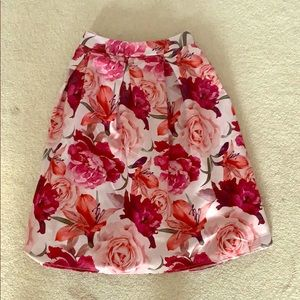 Midi Floral Skirt - Size M - Worn Once